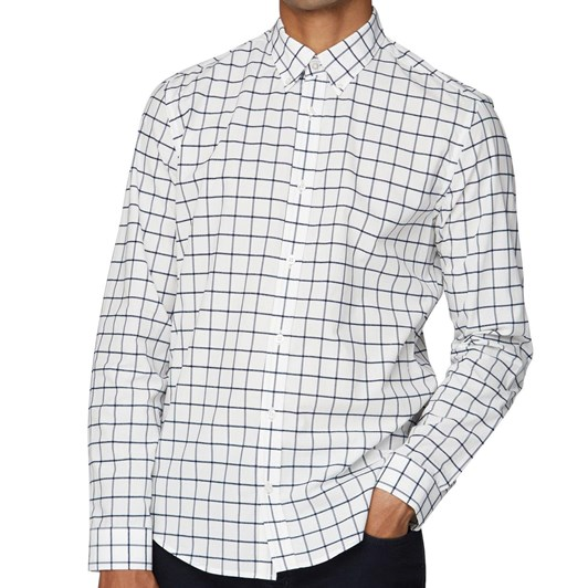 Ben Sherman Boucle Windowpane Shirt