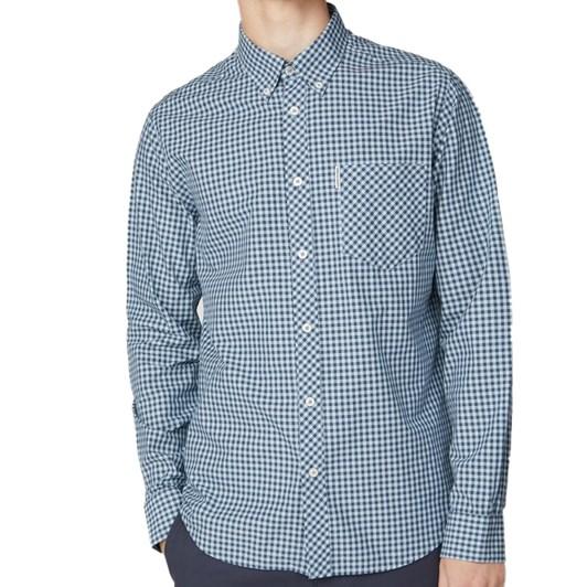 Ben Sherman Long Sleeve Core Gingham Shirt