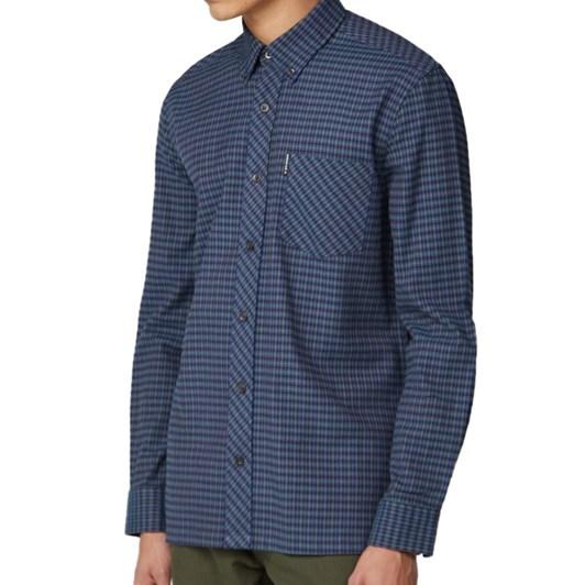 Ben Sherman Long Sleeve Brushed Gingham Shirt