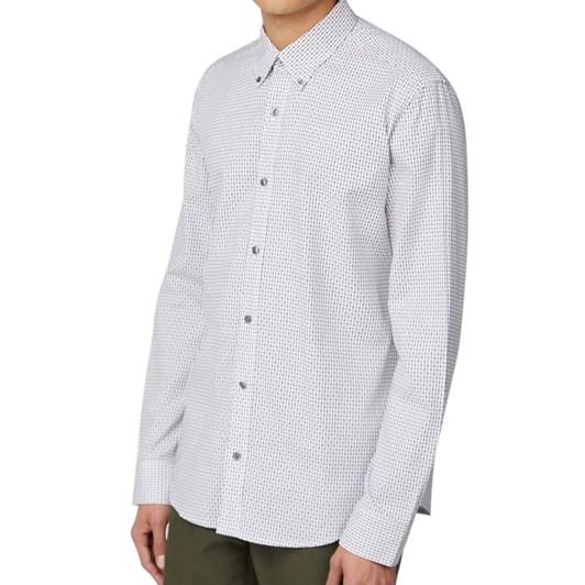 Ben Sherman Long Sleeve Dobby Geo Shirt