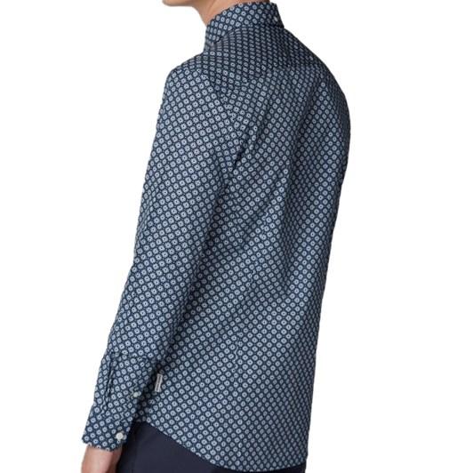 Ben Sherman Long Sleeve Retro Geo Shirt
