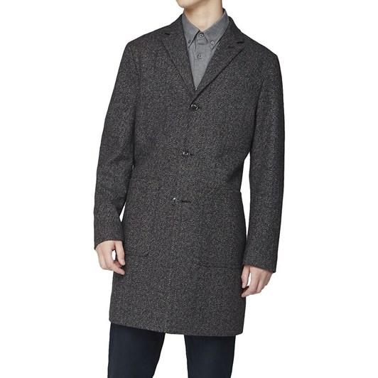 Ben Sherman Herringbone Overcoat