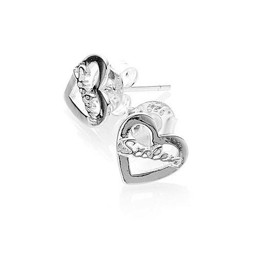 Stolen Girlfriends Heart Script Earrings