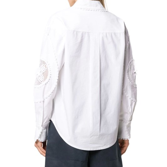 See By Chloe Floral Embroidery Top