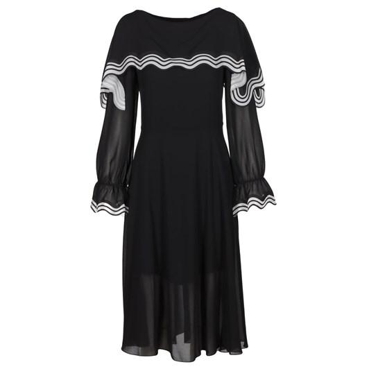 See By Chloé Laser Cut Georgette Dress
