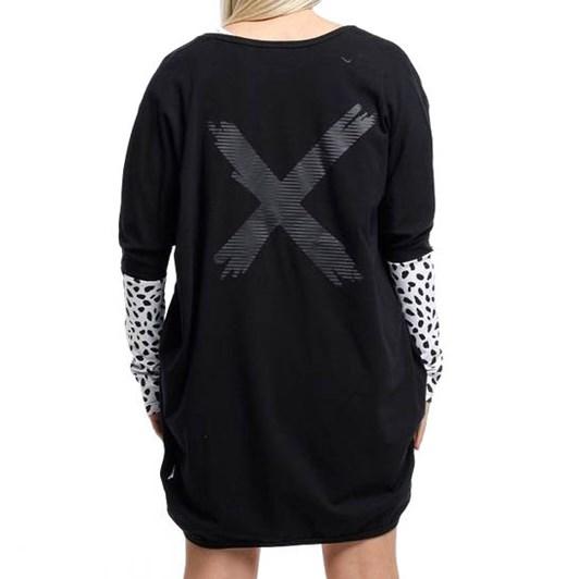 Home-Lee Long Sleeve Kimono W/ X Print