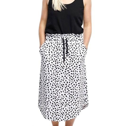 Home-Lee Midi Skirt W/ X Print