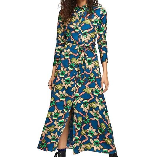 Maison Belted Maxi Dress