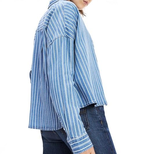 Tommy Jeans Cropped Striped Shirt