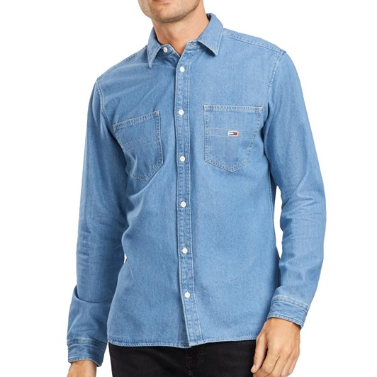 Tommy Jeans Western-Inspired Denim Shirt