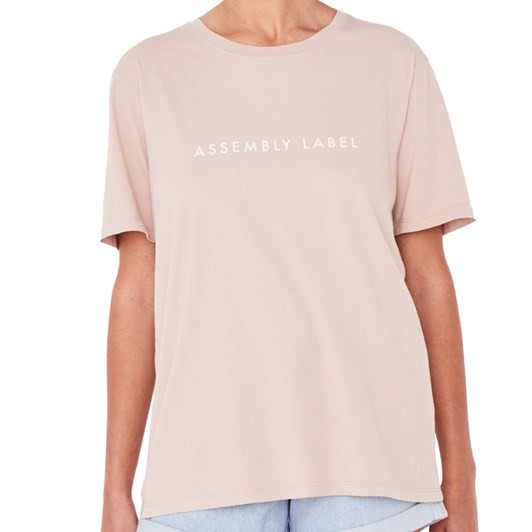 Assembly Label Logo Cotton Crew Tee