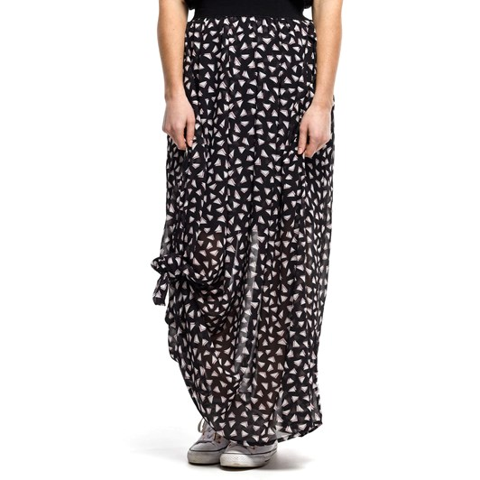 Home-Lee Maxi Skirt - Triangle Print