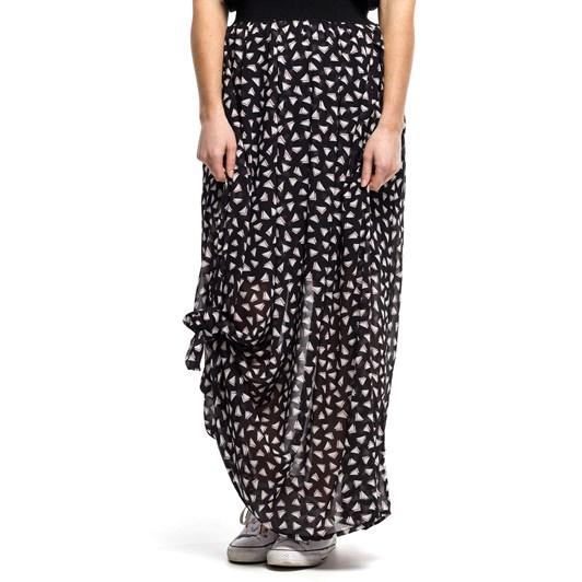 Home-Lee Maxi Skirt - Triangle Print