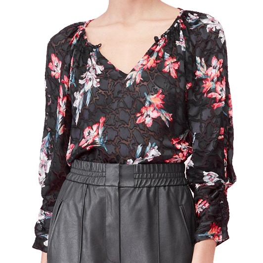 Rebecca Taylor L/S Noha Floral Top
