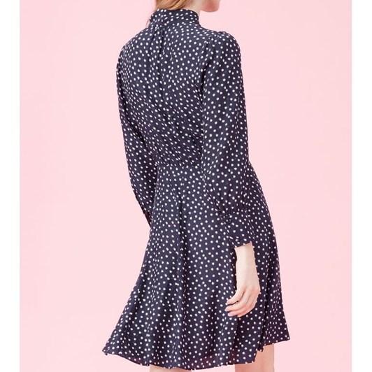 Rebecca Taylor Heart Jacquard Silk Dress