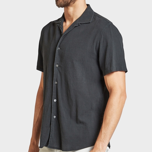 Academy Brand Bedford Shirt - charcoal