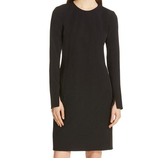 Polo Ralph Lauren Stretch Wool Sleeve-Slit Dress