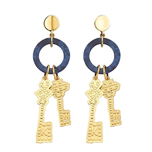 Karen Walker Mosaic Key Earrings