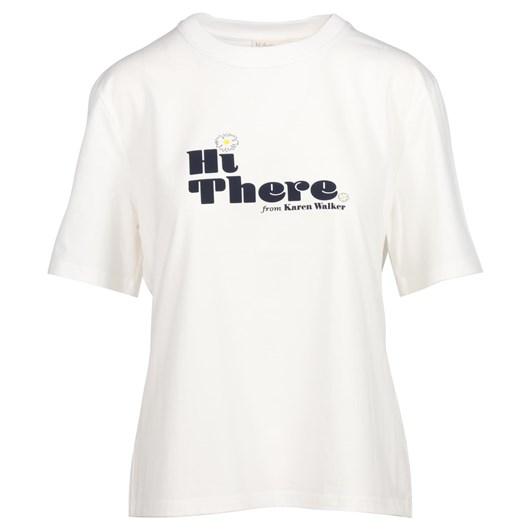 Hi There Karen Walker Utopia Stamp T-Shirt