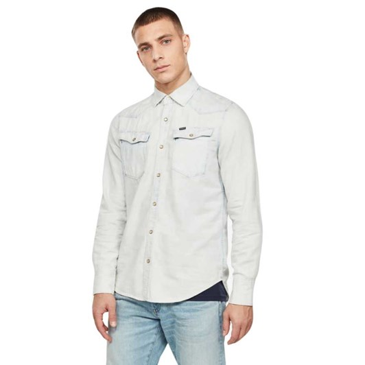G-Star 3301 Seasonal Destroy Slim Shirt L\S