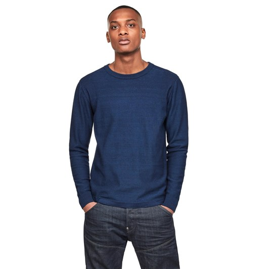 G-Star Indigo R Straight Knit L\S