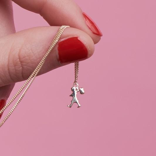 Karen Walker Mini Runaway Girl Necklace