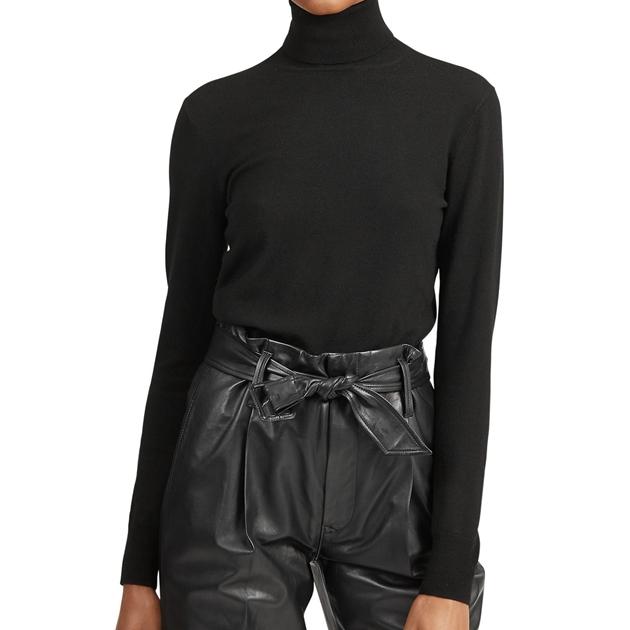 Polo Ralph Lauren Turtle Neck Skinny L/S Sweater - black-1
