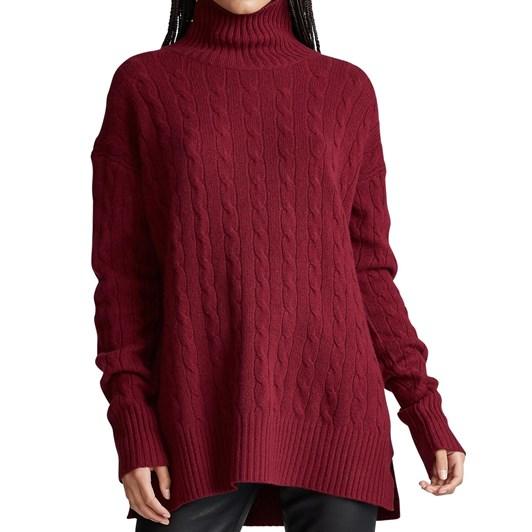 Polo Ralph Lauren Cable-Knit Turtleneck Sweater