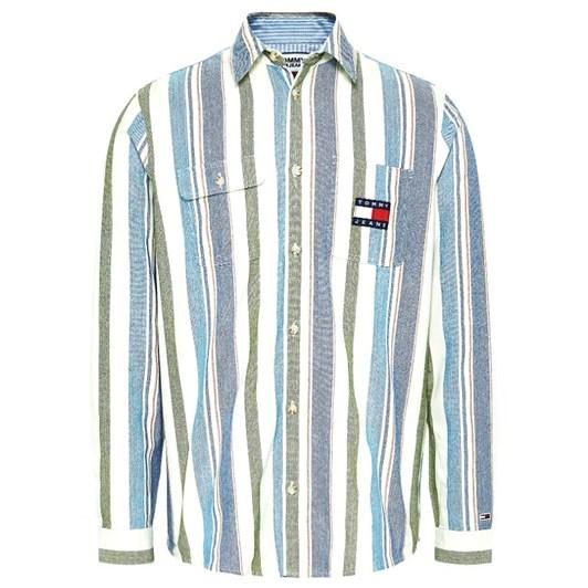Tommy Jeans Tjm Cotton Multi Stripe Shirt