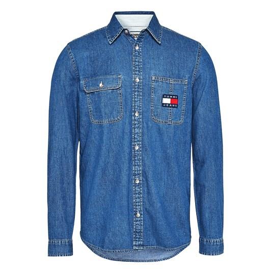 Tommy Jeans Tjm Denim Badge Shirt