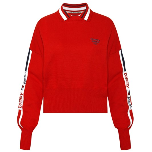 Tommy Jeans Tjw Polo Neck Sweater
