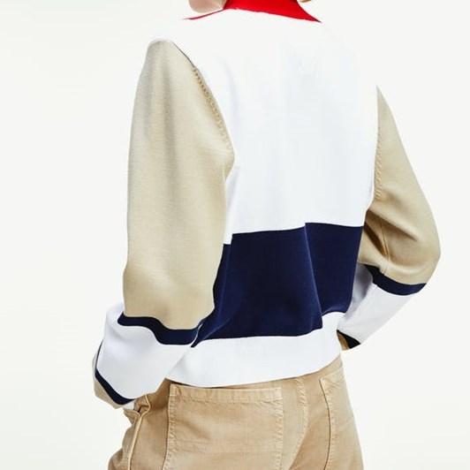 Tommy Jeans Tjw Colorblock Logo Sweater