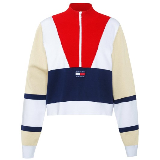 Tommy Jeans Tjw Colorblock Logo Sweater