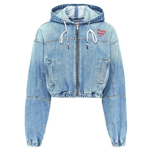 Tommy Jeans Hoodie Cropped Denim Jacket Crlt