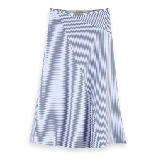 Maison Midi Length Skirt In Bias Cut