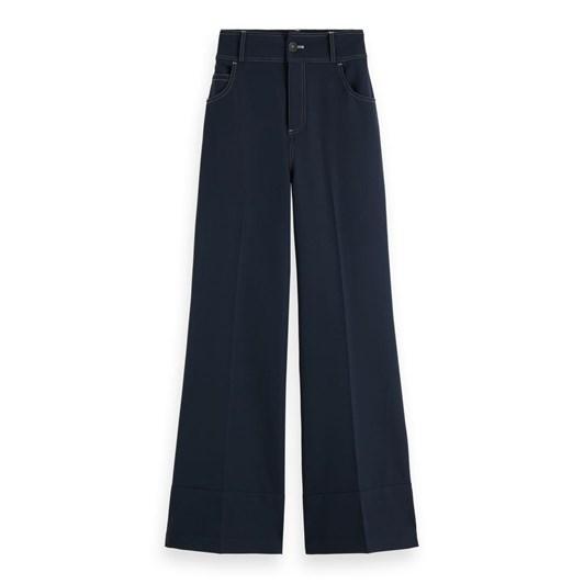 Maison Wide Leg Pants With Contrast