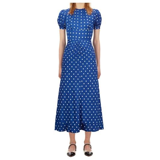 Self Portrait Polka Dot Midi Dress