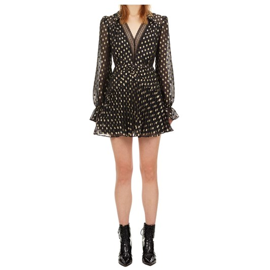 Self Portrait Dot Fil Coupe Mini Dress