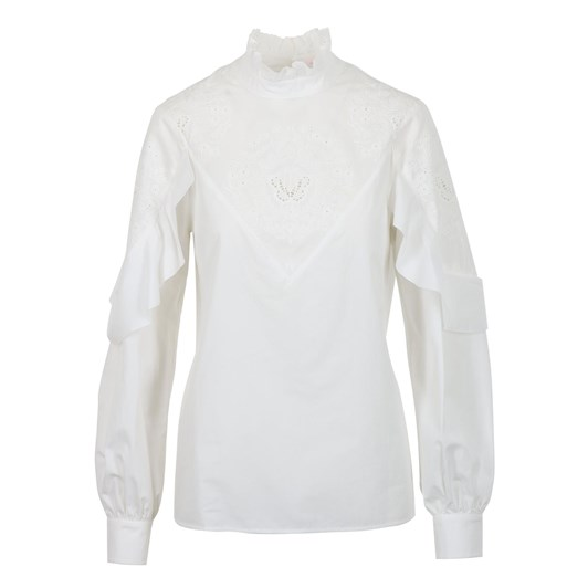 See By Chloe Poplin And Broderie Anglaise Top