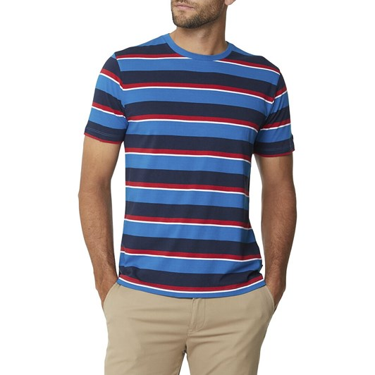 Ben Sherman Multi Stripe Crew Tee