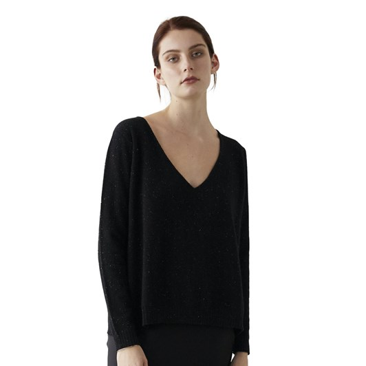 Marle Mason Sweater - Black Speckle