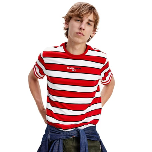 Tommy Jeans Small Text Stripe Tee