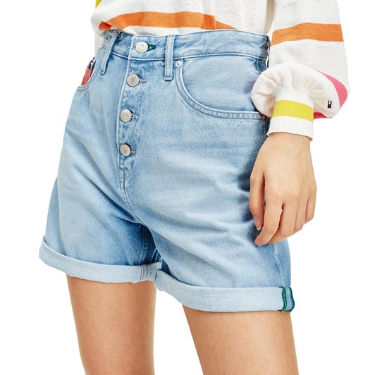 Tommy Jeans Mom Jean Short Btn Flysvlb