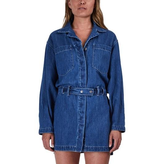 Ksubi Manifesto Shirtdress - Steel Blue