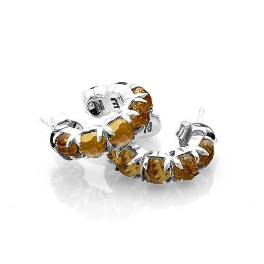 Stolen Girlfriends Club Halo Cluster Earring Yellow Zircon