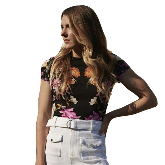 Ted Baker Arbyela Rhubarb Printed Fitted T-Shirt