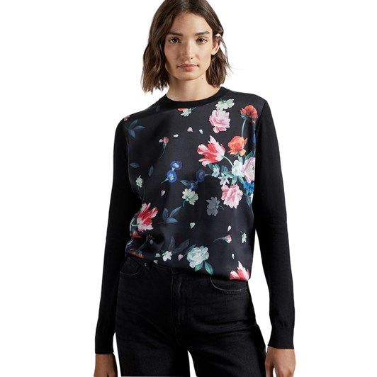 Ted Baker Befanyy Sandalwood Printed Front Sweater