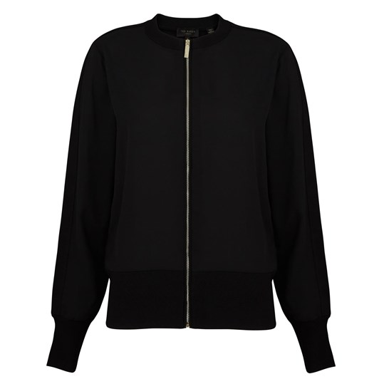 Ted Baker Jehney Georgette Cardi With Knit Detail
