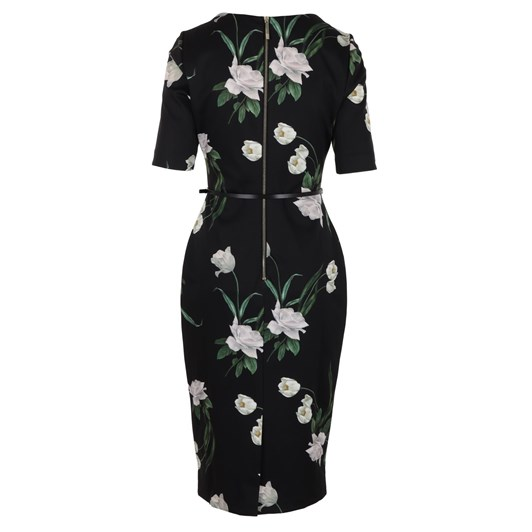 Ted Baker Magieyy Elderflower Notch Detail Bodycon Dress
