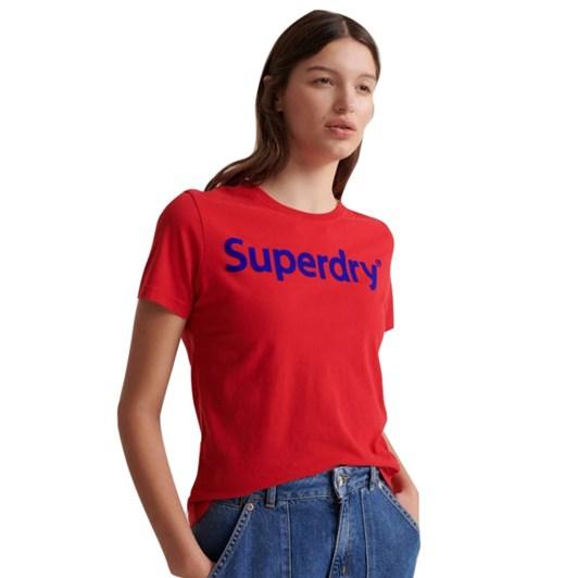 Superdry Reg Flock Entry Tee